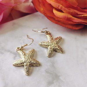 Nwt Starfish Earrings Gold